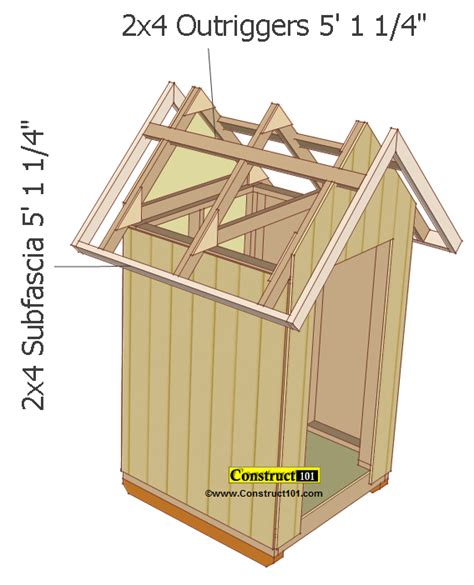 shed roof section small garden shed plans 4 x4 gable shed construct101