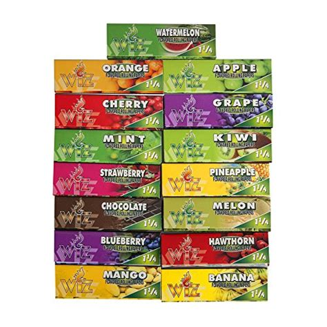 cigarette colored rolling papers rolling papers variety 15 packs of flavored color