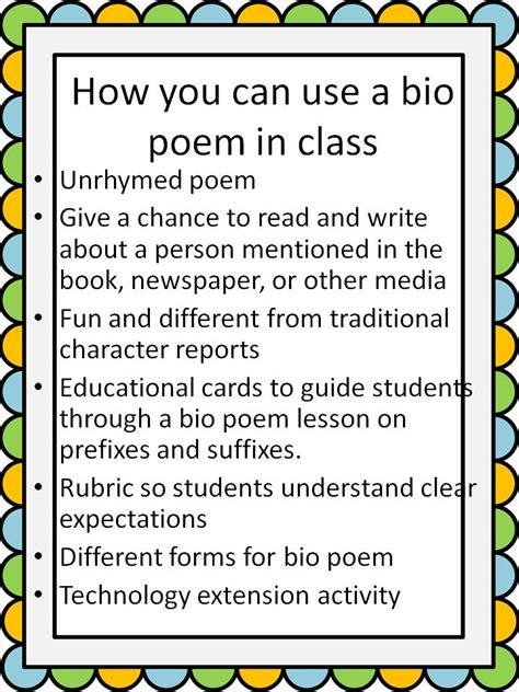 Oceans Of Teaching Ideas Bio Poem Must Have Freebie Till | oceans of teaching ideas bio poem must have freebie till