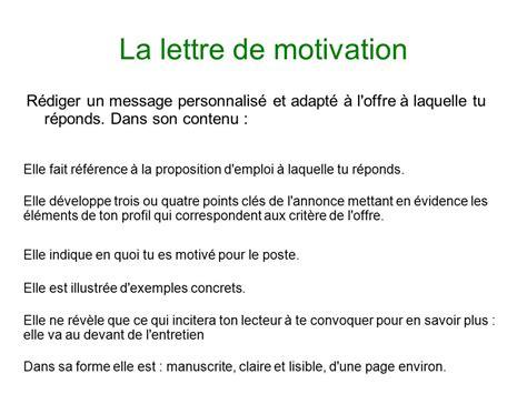 la lettre de motivation est le curriculum vitae et la lettre de motivation ppt t 233 l 233 charger