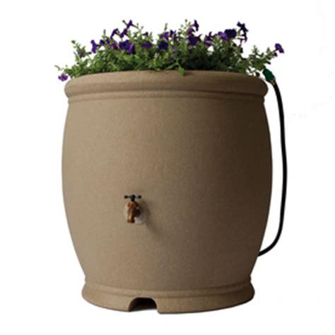 100 Gallon Plastic Barrel - shop algreen 100 gallon sandstone plastic barrel with