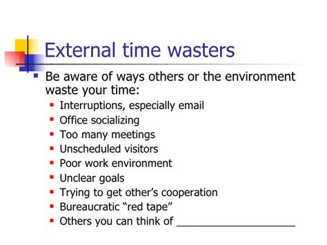 Your Time Wasters by Time Management Hs 1