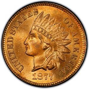 1877 indian head pennies values and prices past sales