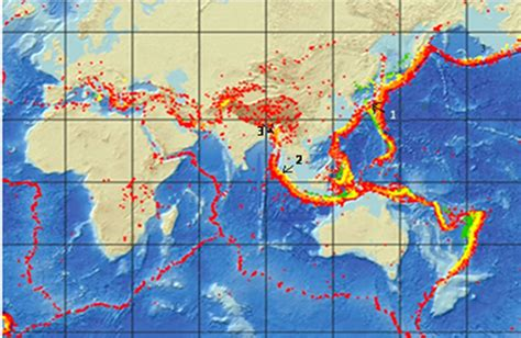 earthquake asia indonesia fault line images