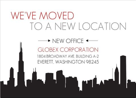 City New Office Business Moving Announcement Business Moving Announcements We Moved Email Template