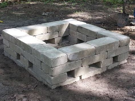 Square Firepits 25 Best Ideas About Square Pit On Grillage Foundation Brick Pits And