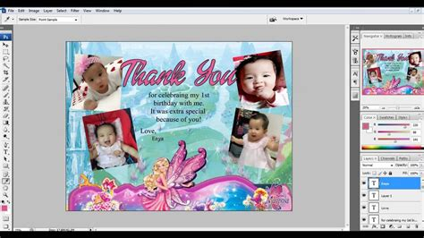 Thank You Card Photoshop