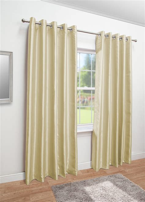 faux silk cream curtains cream faux silk eyelet fully lined curtains