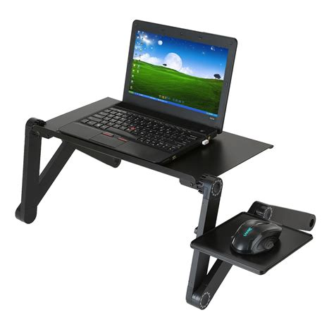 Portable Standing Laptop Desk by Portable Adjustable Laptop Desk Table Foldable 360 Degree