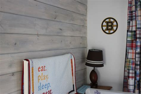 Shiplap Gray Barn Door And Whitewashed Shiplap In S Bedroom