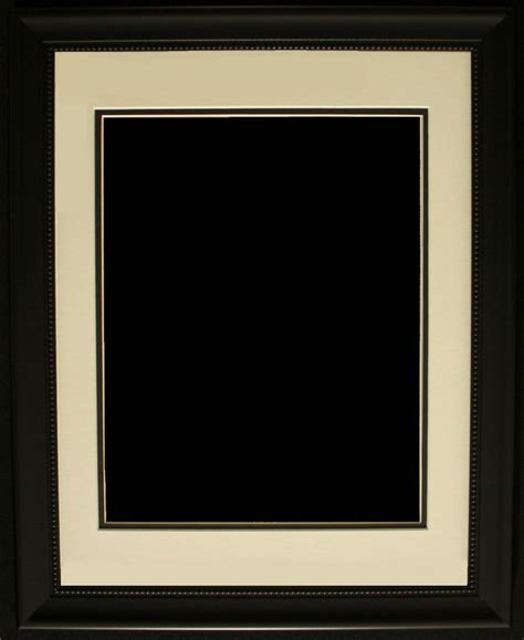 black picture frames with white matting pristine auction