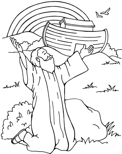children s coloring pages noah s ark free ark and rainbow coloring pages