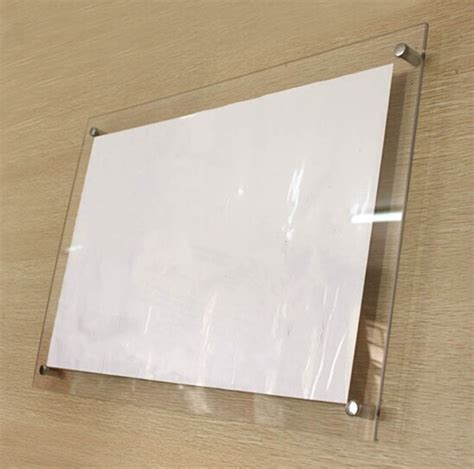 Wall Frame Acrylic A4 Model Lipat aliexpress buy gt4166 a4 wall mounted transparent