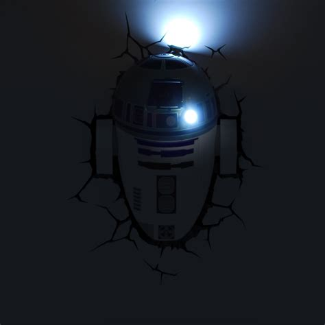 3dlightfx 3d deco led wall light star wars r2 d2 at