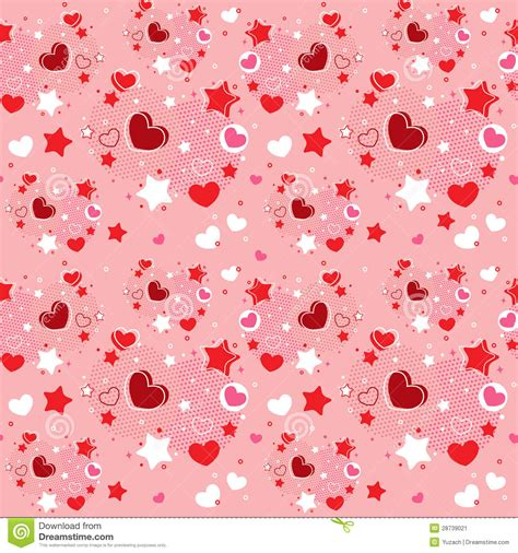 cute valentine pattern cute valentine seamless pattern stock image image 28739021