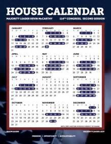 Congress Calendar The 2016 House Calendar No Congress Isn T Working