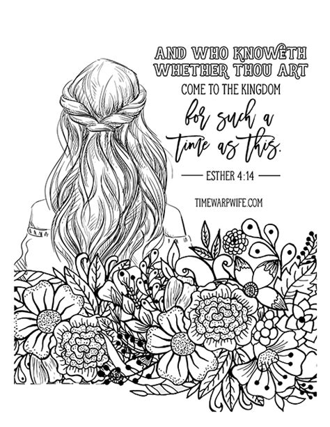 christian coloring pages for 2 year olds esther bible study week 2 part 1 printable resources