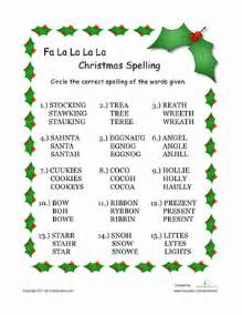 christmas spelling words worksheet education com