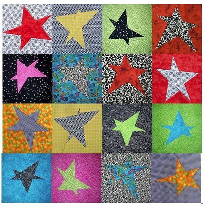 Five Pointed Quilt Pattern by 5 Point Quilt Block Search Wonky Lib