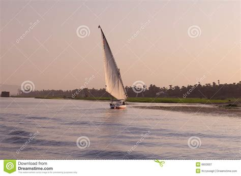 sailboat on the nile sailboat on nile river royalty free stock photography
