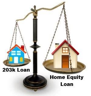 203k versus home equity loan remodeling