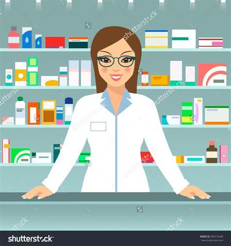 Of Pharmacist by Pharmacist Clipart