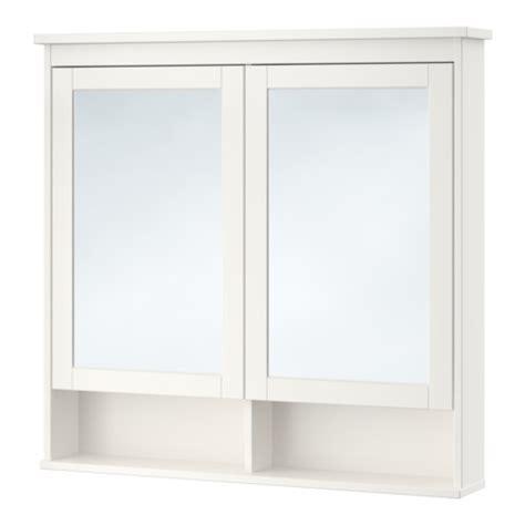 hemnes armoire 224 pharmacie 2 portes miroir blanc