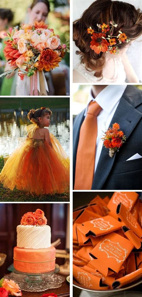 orange wedding colors 25 best ideas about burnt orange weddings on