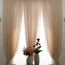 Elegant Sheer Curtains Romantic Beige Color Sheer Lace Curtains