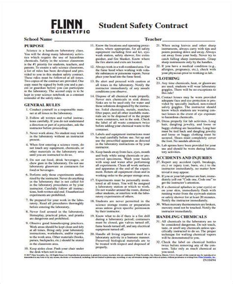 safety contract templates 6 safety contract templates free sle exle format