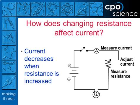 resistors affect voltage foundations of physical science ppt
