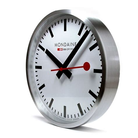 mondaine wall clock mondaine alu wall clock mon010