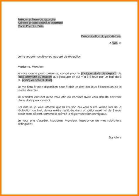 R Siliation De Bail Sans Pr Avis Lettre lettre resiliation bail nouvel emploi document