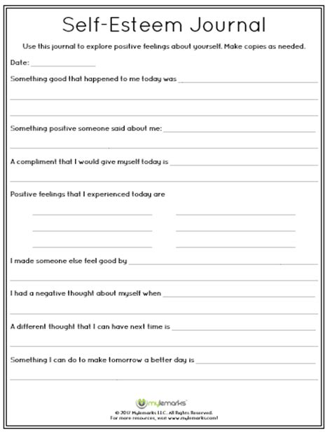 Self Esteem Worksheets For Adults Pdf by Self Esteem Worksheets Related Keywords Self Esteem