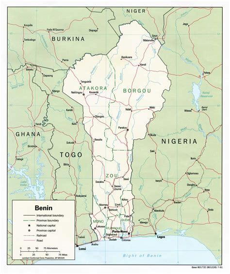 benin on the map nationmaster maps of benin 6 in total