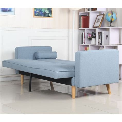 Canape Convertible Bleu by Canap 233 Convertible 3 Places Scandinave Quot Navya Quot Bleu Clair