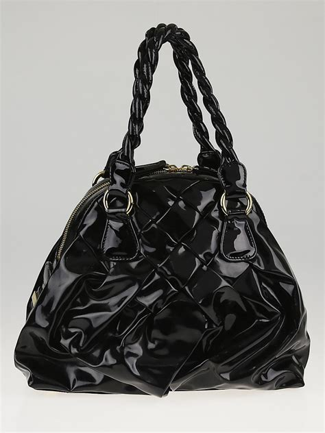 Braided Leather City Bag - valentino black patent leather small couture braided tote