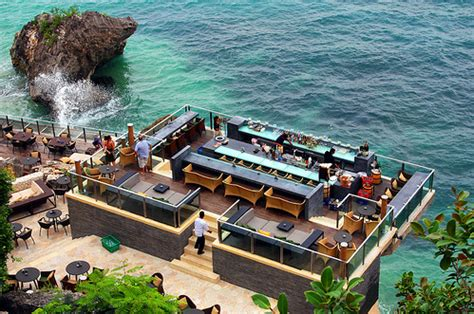 bar at top of the rock beauty sunset panorama quot the rock bar bali quot annisa