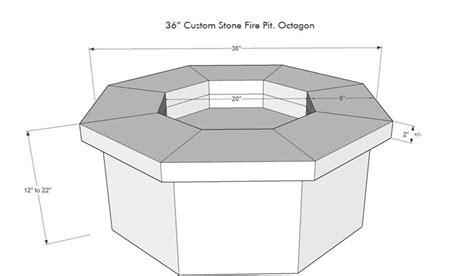 custom stone gas fire pit