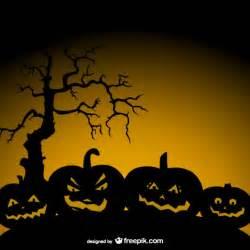 halloween pumpkin background vector free download