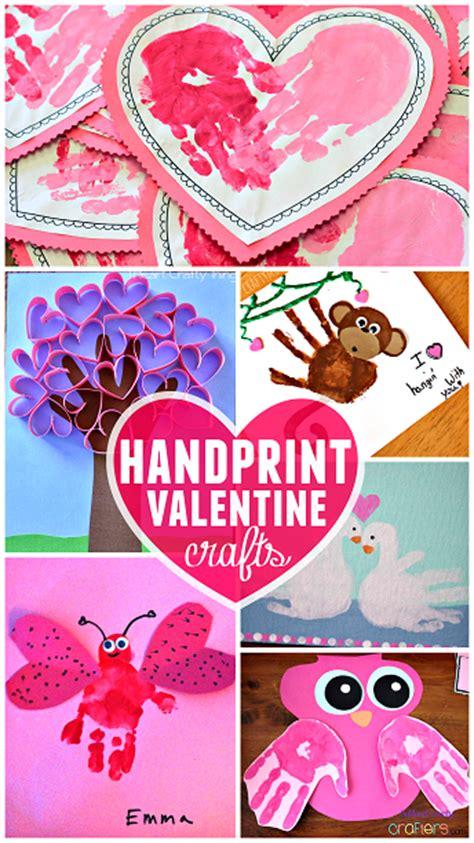 valentines morning ideas s day handprint craft card ideas crafty morning