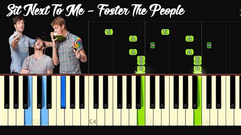 tutorial piano next to me foster the people sit next to me piano tutorial youtube