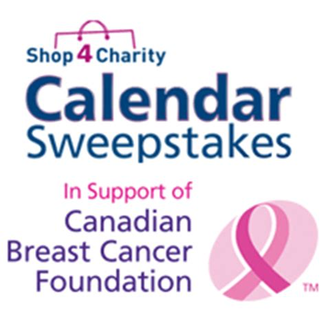 2016 calendar sweepstakes back to benefit canadian breast cancer foundation - Canadian Breast Cancer Foundation Calendar Sweepstakes 2017