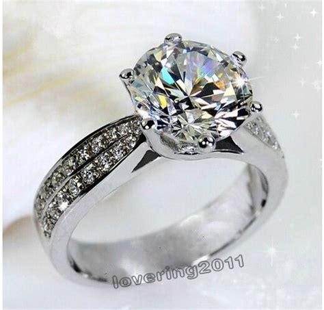 sz j l engagement white topaz diamonique 14kt gold filled
