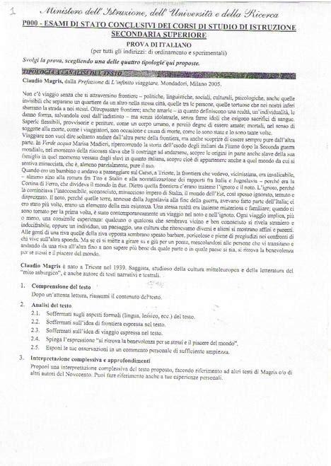 maturit 224 2013 tracce prima prova magris omicidi