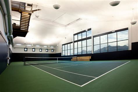 Home Plans With Interior Pictures indoor shot of tennis court 015 tennis pavilion