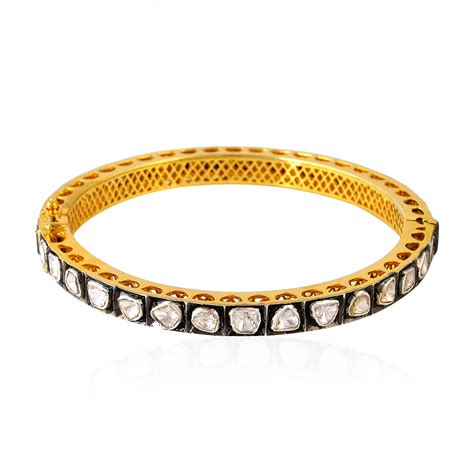 Etnic Bracelet Gold cut 18k gold sterling silver wedding bangle indian ethnic jewelry ebay