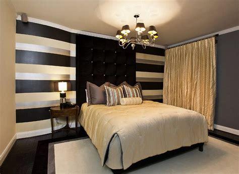 black  gold bedroom design giving  luxury themed