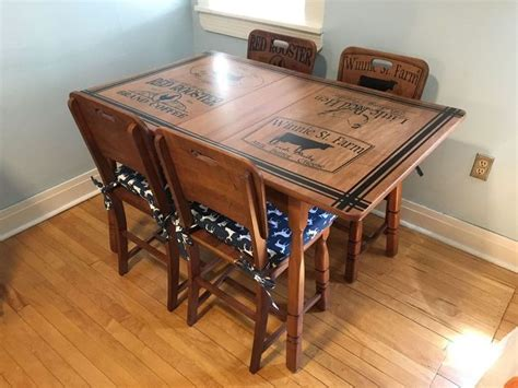 chalk paint kitchen table and chairs refinished kitchen table chairs with beautiful stenciling hometalk