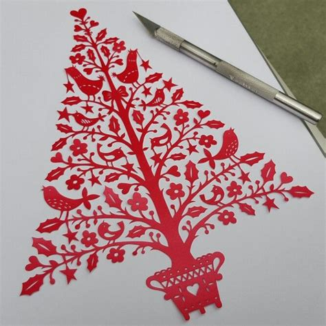christmas tree papercut by suzy taylor paper cutting and